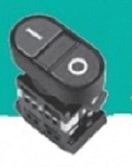 Кнопка ABLFS-22 красная, подсветка, 1NO+1NC