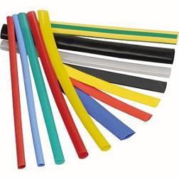 Термоусаживаемая трубка ТУТ 8/4 набор: 7 цветов по 3 шт. 100мм