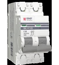 Автоматический выключатель ВА 47-63, 2Р 20А (С) 4,5kA EKF PROxima