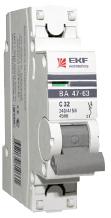 Автоматический выключатель ВА 47-63, 1Р 63А (С) 4,5kA EKF PROxima