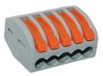 Строительно-монтажная клемма СМК,мод.415,с рычагом,5 отв.,0.08-2.5мм2