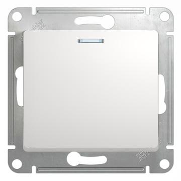 Выключатель Glossa GSL000113 с/подсв., бел.