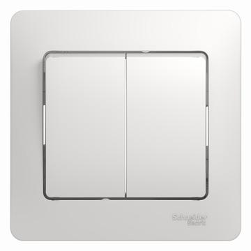 Выключатель Glossa GSL000152 2-кл. с/рамк., бел.