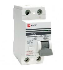 Устройство защитного отключения УЗО ВД-100 2P 40А/30мА (электромеханическое) EKF PROxima