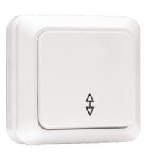 Выключатель проходной 1-клавишный 10А белый Рим EKF
