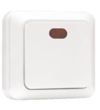 Выключатель 1-клавишный с индикатором 10А белый Рим EKF