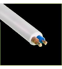 Провод ПВС-Т 2х1,0 бел
