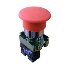 Кнопка управления XB2-BS542, металл, гриб с фиксацией, 1NC