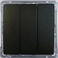 Выключатель W59 VS0510-351-6-86 3-кл. 10A, ч.бархат