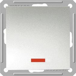 Выключатель W59 VS110-153-5-86 с/инд 10A, мат.хром