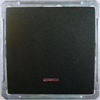 Выключатель W59 VS110-153-6-86 с/инд 10A, ч.бархат