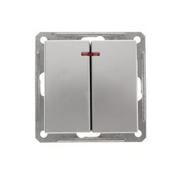Выключатель W59 VS510-251-5-86 2-кл. с/инд 10A, мат.хром