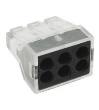 Строительно-монтажная клемма СМК, модель 106, 6 отверстий, 1.0-2.5мм2