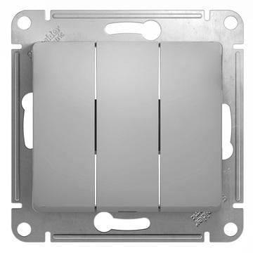 Выключатель Glossa GSL000331 3-кл., алюм.