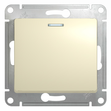 Выключатель Glossa GSL000213 с/подсв., беж.