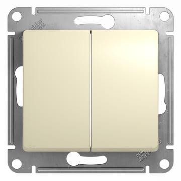 Выключатель Glossa GSL000251 2-кл., беж.