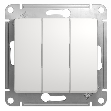 Выключатель Glossa GSL000131 3-кл., бел.