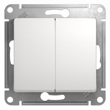Выключатель Glossa GSL000151 2-кл., бел.