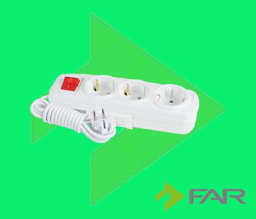 Удлинитель 3-ой с/з с выключеним - 3MT F503B