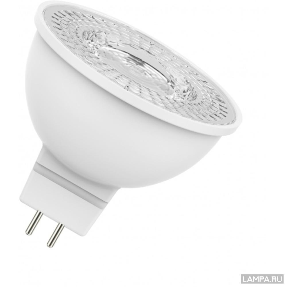 Лампа светодиодная LED STAR MR16 4,2W/840 230V GU5.3 (10) OSRAM