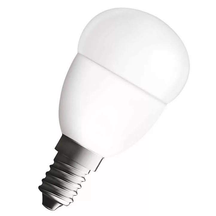 Лампа светодиодная LED STAR ClassicP40 5W/840 230V Е14 OSRAM шар, белый свет, матовая колба