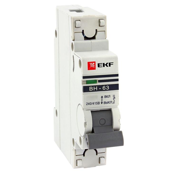Выключатель нагрузки ВН-63, 1P 25А EKF PROxima