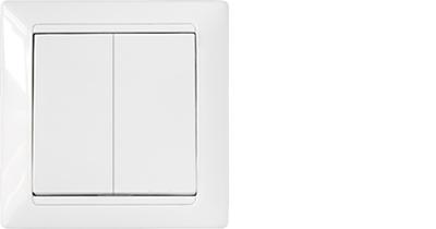 Выключатель С(6+6) 10-847 2кл. белый (Осв. от НДС согл. пп.1.16 п.1 ст. 94 НК РБ) (Копия)