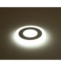 12+4W Белый, IP 20, Color, Светильник светодиодный с декоративной подсветкой круглый, Truenergy