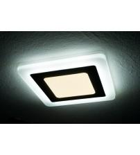 12+4W Белый, IP 20, Color, Светильник светодиодный с декоративной подсветкой квадрат,  Truenergy