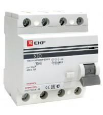 Устройство защитного отключения УЗО ВД-100 4P 16А/30мА (электромеханическое) EKF PROxima