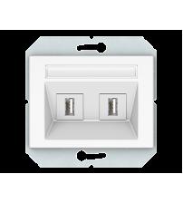 USB розетка двухместная, без рамки XP 500