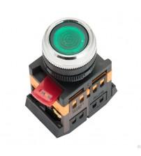 Кнопка ABLFS-22 зеленая, подсветка, 1NO+1NC