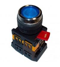 Кнопка ABLFS-22 синяя, подсветка, 1NO+1NC