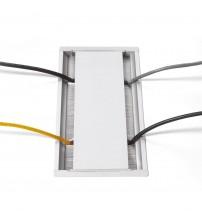 VersaFlap, 2 сил.роз+2RJ45+ 1 USB 5V, алюминий, цвет белый