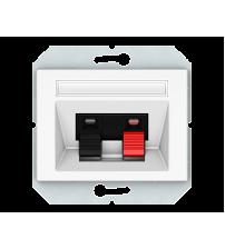 Аудиорозетка, 2-местная, без рамки XP 500